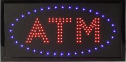 Double Red LED ATM Window Sign