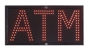 Double red LED ATM Sign