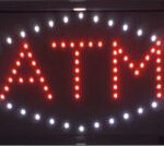 LED ATM Sign With White Diamond