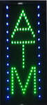 green blue atm neon sign