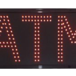 Large Double Red LED ATM Signs